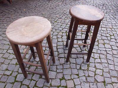 2 Barhocker Holz Metall Vintage, Chair QualitäT Und QuantitäT Gesichert