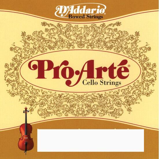 D' Addario Pro-Arte Cello String Set 4 4 Medium