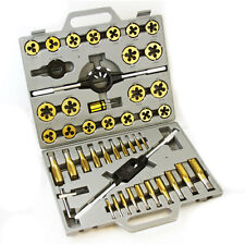 45 Pc MM Metric Professional Grade Titanium Alloy Tap & Die Set Tools M6-M2