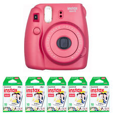Fujifilm Fuji instax mini 8 Raspberry Red Instant (Polaroid)Camera + 50 Prints