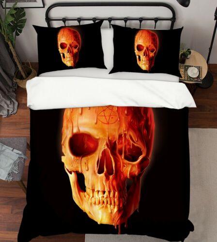 3D Wax Skull A92 Bed Pillowcases Quilt Duvet Cover Vincent Zoe