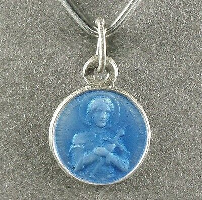 Enamel portraits collection on ebay saint joan of arc jeanne darc french antique religious silver enamel medal aloadofball Gallery
