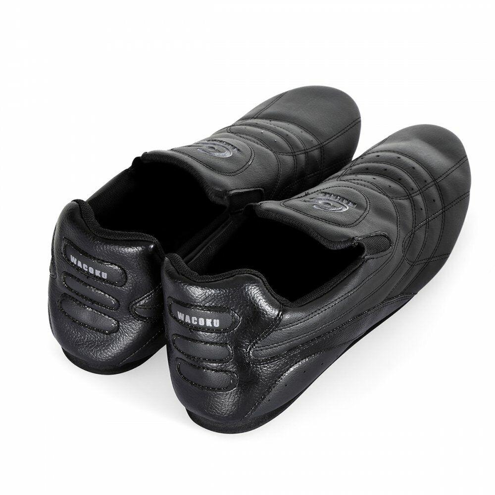 Détails sur Wacoku Ultra Léger Arts Martiaux Entraînement Chaussures Noir Taekwondo Tkd Gym