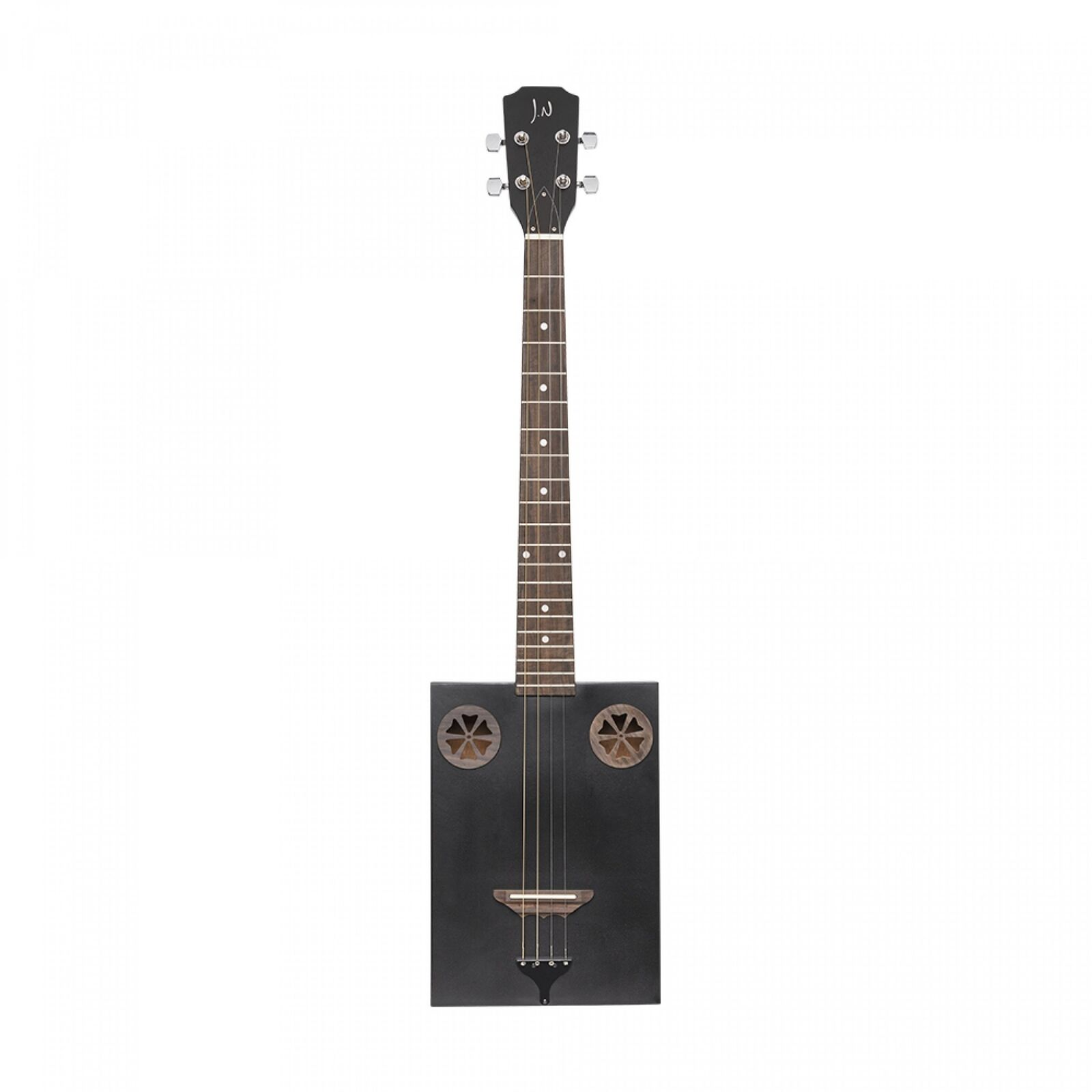 J.N Guitars CASK-FIRKCOAL Acoustic Sapele Cigar Box Guitar