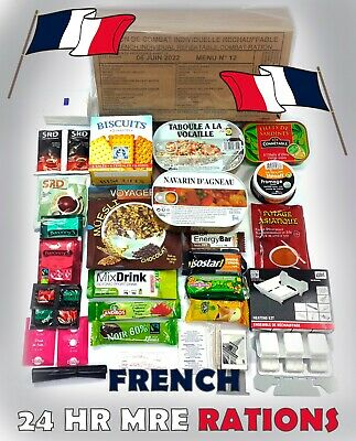 français MRE PRI militaire Food RCIR 24 H Menu combat Box US France #2022# Menu 8