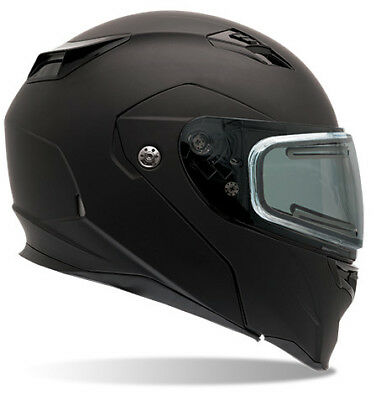 2X-Large Bell Helmets Qualifier Matte Black Snowmobile Helmet with Electric Shield