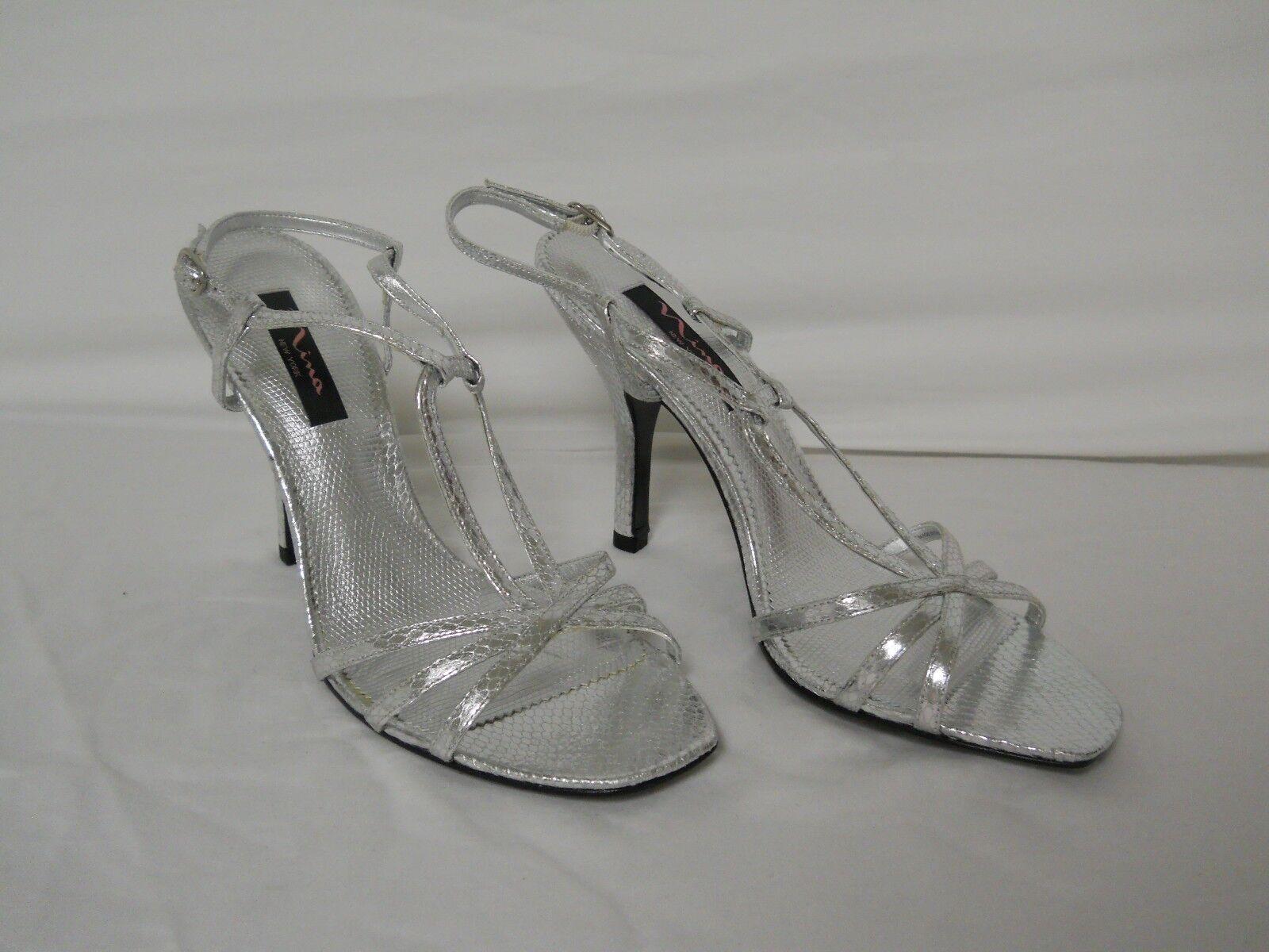 Nina New York New Womens Amazone Silver Heels 10 M shoes