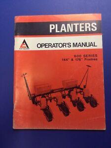 allis chalmers 600 series planters operators manual ebay rh ebay com History Allis Chalmers Planters Allis Chalmers Planter Units