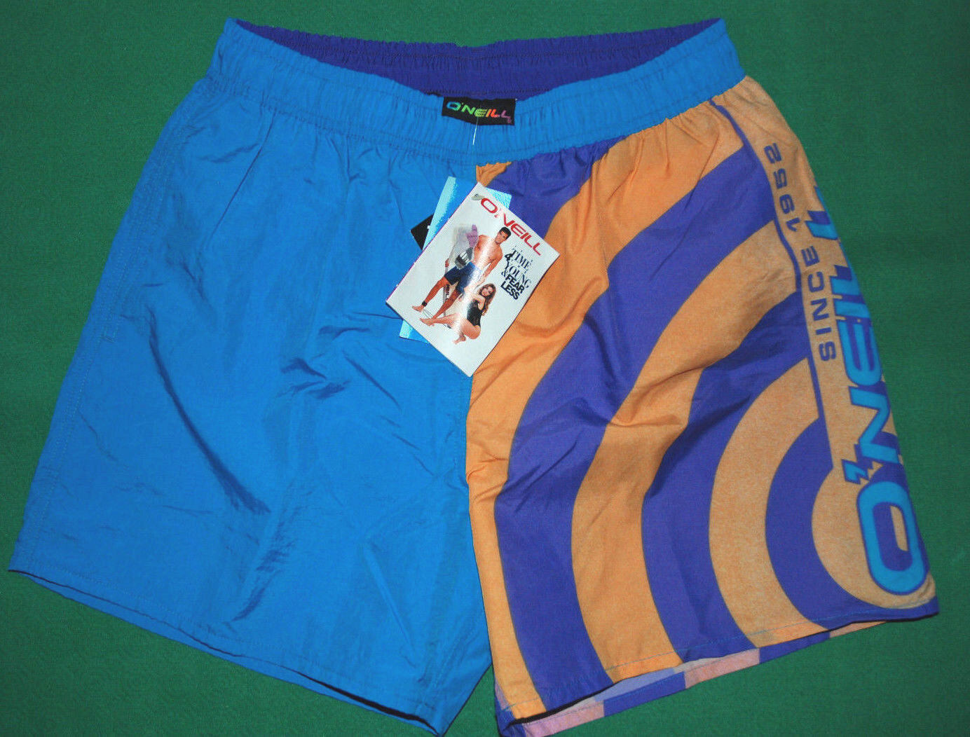 Vintage O'NEILL 90s santa cruz swimwear swim costume sea boardshorts mint