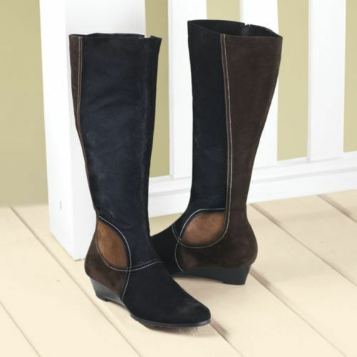 NEW WOMENS SEVENTH AVENUE WAVE PATCHWORK BOOTS SIZE 8M 8 M