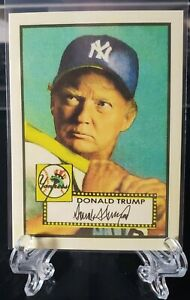 Donald Trump 1952 Topps style lot 10 Baseball Cards Free Shipping