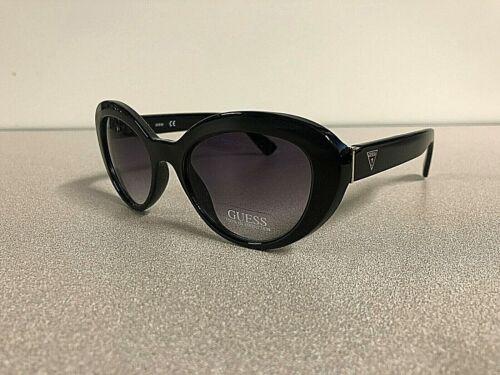 New GUESS Womens Designer Oval Sunglasses Eyewear Black//gold Frame Gradient Lens