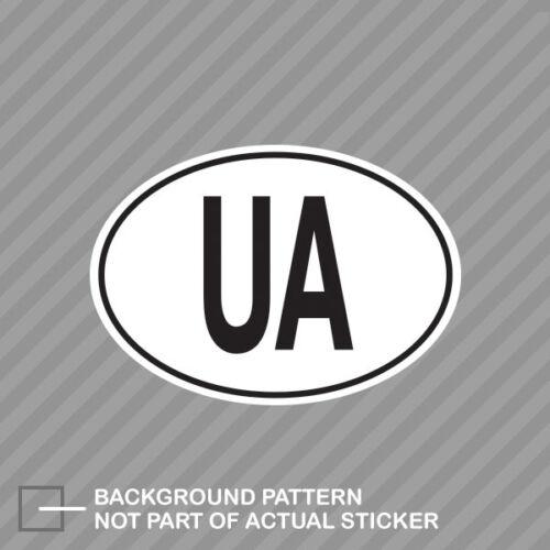 UA Ukraine Country Code Oval Sticker Decal Vinyl Ukrainian euro