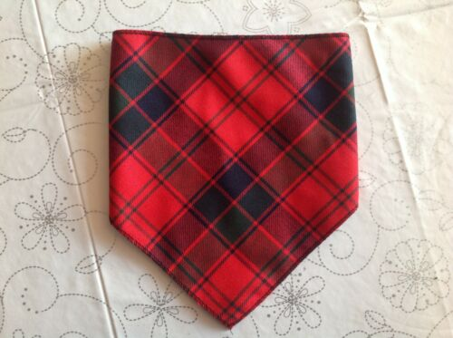 New baby tartan bib various colours boy girl fleecy lined red green grey blue