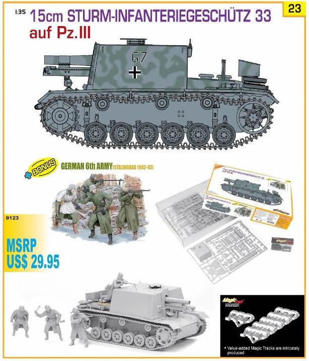 Dragon 1 35 5cm Sturm-Infanteriegeshutz 33 Ausf.Pz.III w  Figure Set