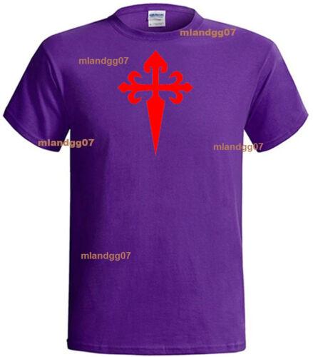 Cross Saint James Crusader  T-Shirt  Shirt  SIZES S-5XL