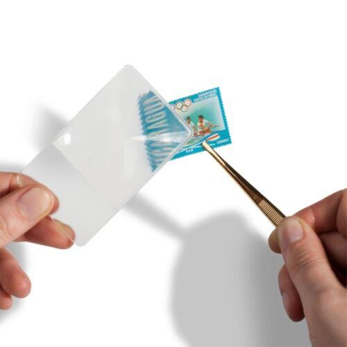 Leuchtturm Lupe im Visitenkartenformat 3 fache Vergrößerung super Preis !