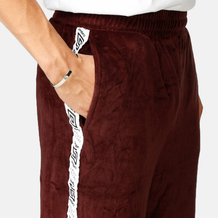SWEET SKTBS X UMBRO TEAM VELOUR BORDEAUX PANTALONE TUTA PANTS LIMITED