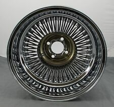 "Wicked Wires Reverse 80 Spoke 15"" Chrome 4x100 Wheel Rim - Part # 578021 - NEW"
