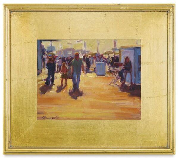 Nouvelle 5  Large Classique Moderne Photo Art Peinture Cadre plein air bois feuille d'or +