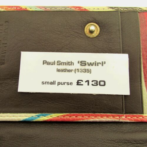 Paul Smith Swirl  Bag Tote Bag Frame  Purse Wallet Leather Brand New