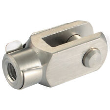 Air Pneumatic Cylinder Ram Piston Rod End Fork Clevis 8/10mm M4 Pk2