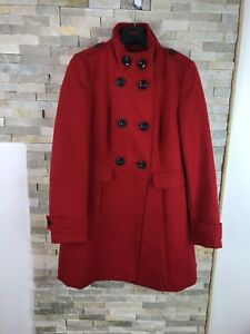 M-amp-S-Ladies-Size-10-Soft-Shell-Double-Brested-Miliatery-Red-Coat-Jacket