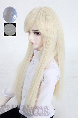 "8-9/"" 1//3 BJD Black Straight Long Ancient Wig LUTS Doll SD DZ DOD MSD Hair UAL"