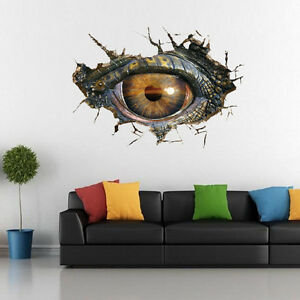 Big Dinosaur Eye 3D Wall Sticker Vinyl Decal Kids Room Mural ... a0730afb19
