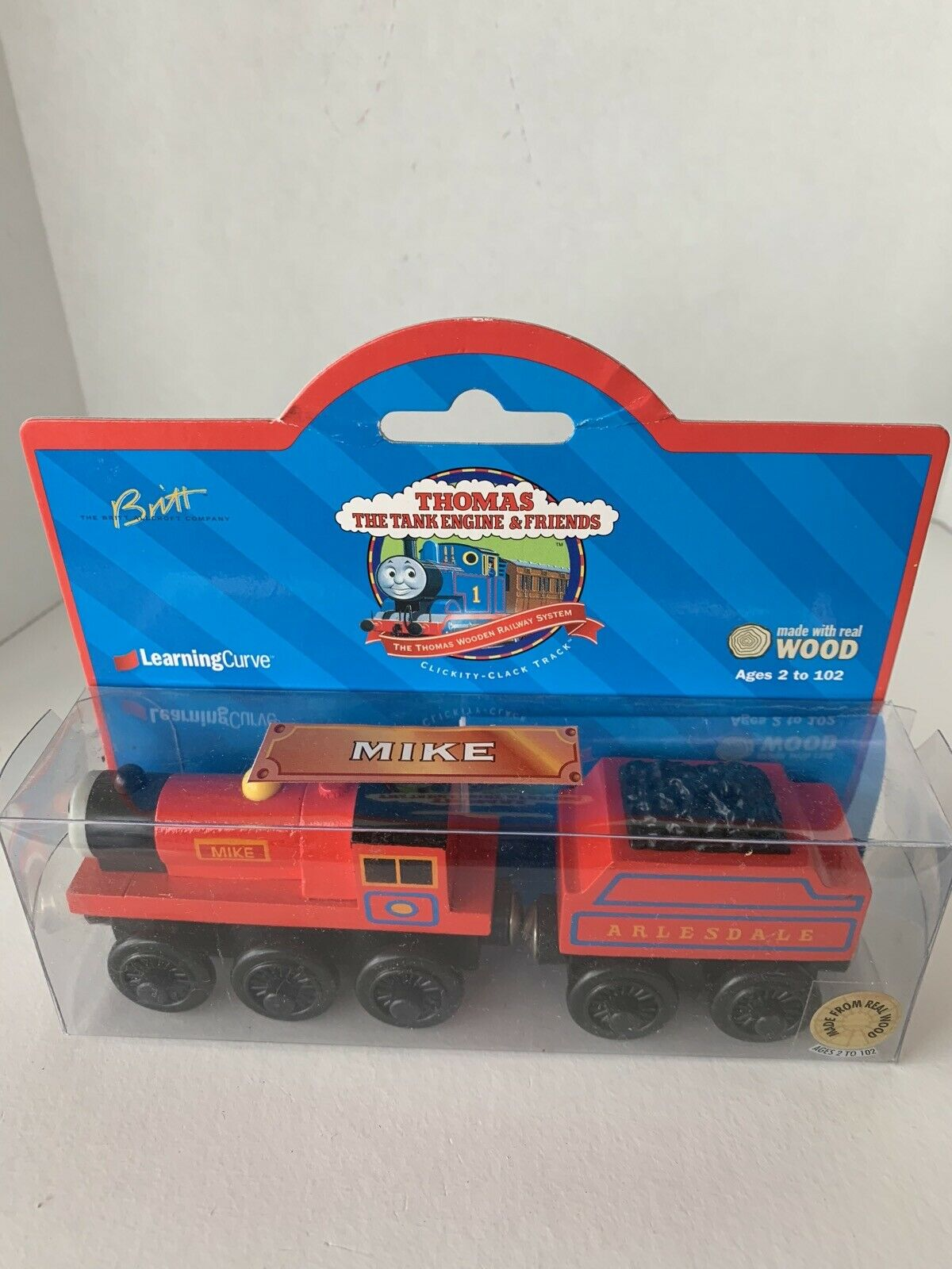 1998 Thomas Train vänner Mike träen järnvägway brun Label