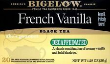 Bigelow DECAFFEINATED French Vanilla Black Tea (Pack of 2) 20 count Boxes