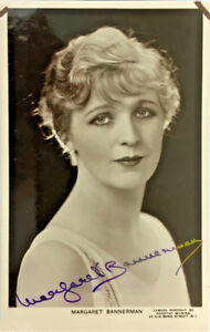 MARGARET-BANNERMAN-ACTRESS-SIGNED-REAL-PHOTO-POSTCARD-RPPC-UNPOSTED