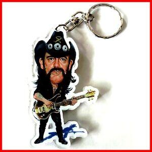 LEMMY MOTORHEAD ! PORTE CLE Portrait Heavy metal Hard Rock Keychain Caricature
