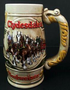 Budweiser-Clydesdales-Beer-Stein-Anheuser-Busch-Gardens-Promotional-Ceramarte