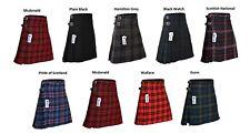 Men's 8 Yard Deluxe Scottish Tartan Kilt, Highland Wedding Kilt, 9 Tartans
