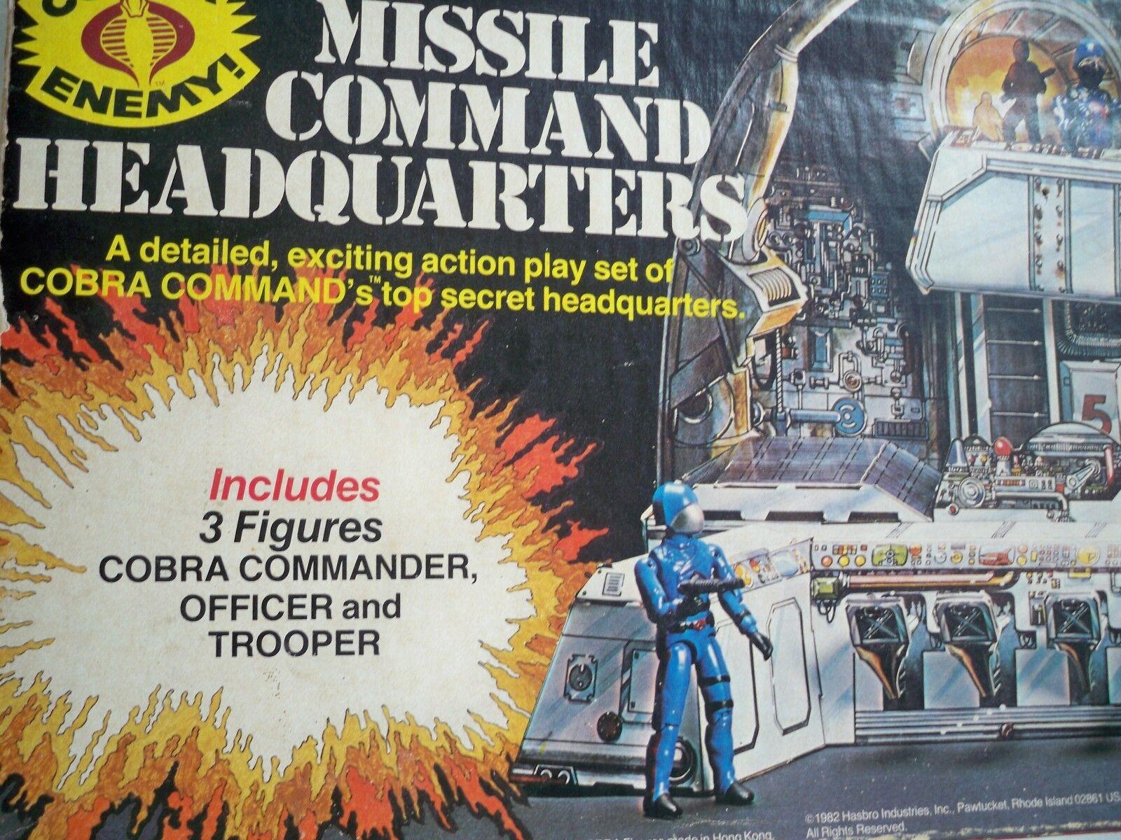 K1877708 MISSILE COMuomoD HEADQUARTERS W scatola GI JOE COBRA 1982  SEARS VINTAGE  marchi di moda