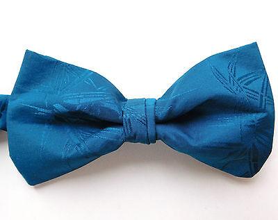 Deep purple silk bow tie Moodys country check self tie 14 15 16 17 NEW