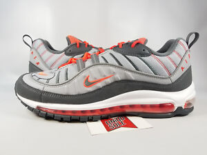 newest d3480 282bc Image is loading Nike-Air-Max-98-WOLF-DARK-GREY-CRIMSON-