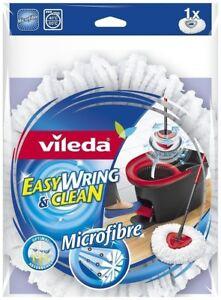 2-x-Vileda-leicht-wringen-und-CLEAN-Microfaser-Mop-Nachfuellung-Kopf-NEU
