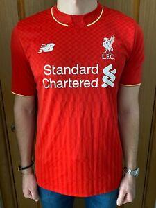 Liverpool New Balance 2015 Calcio Casa Maglietta Jersey Camiseta Maglia Trikot L