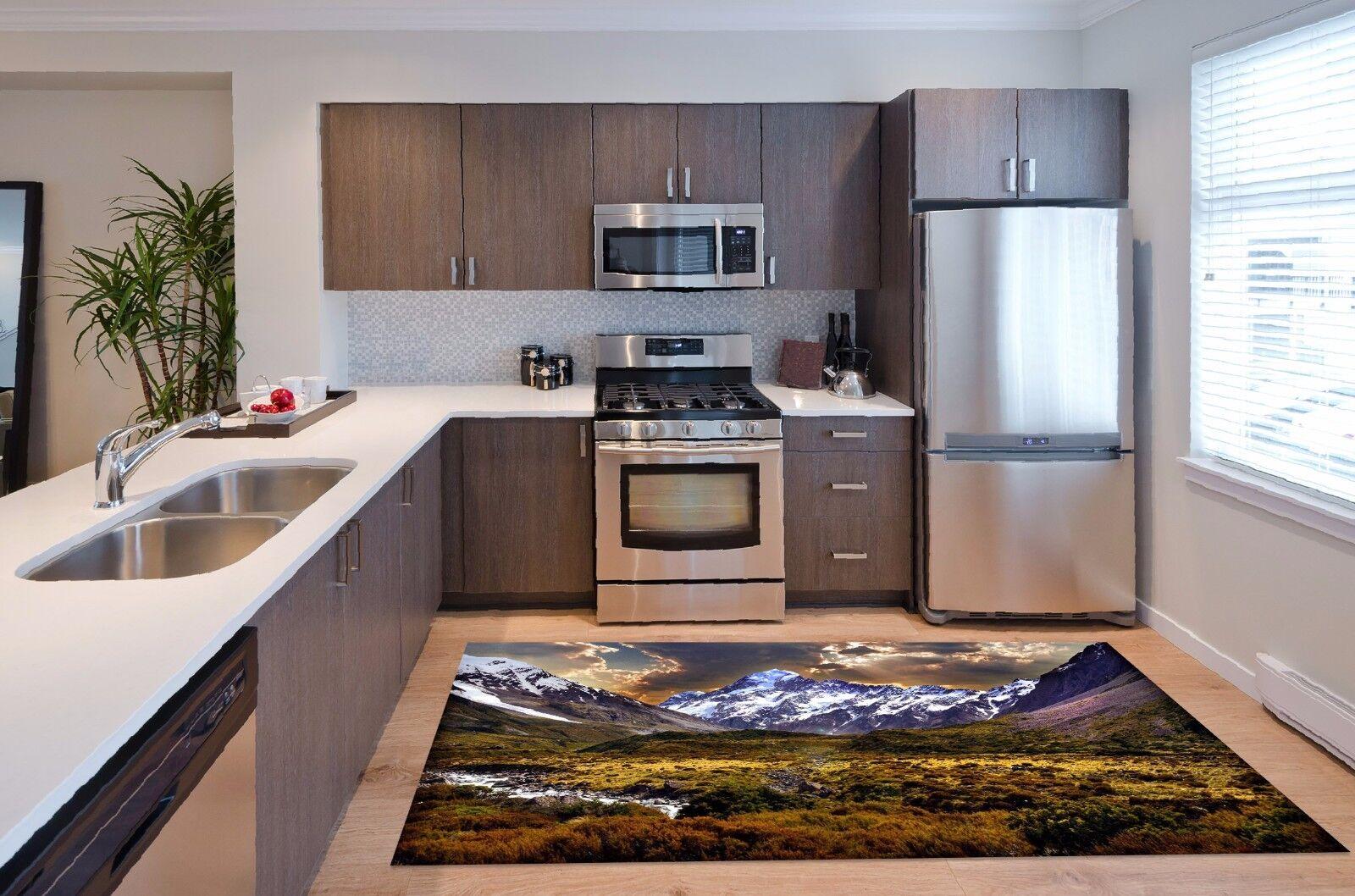3D Mountain Lawn 6 Kitchen Mat Floor Murals Wall Print Wall AJ WALLPAPER UK Kyra