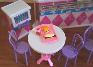 NEW Gloria DOLLHOUSE FURNITURE Fast Food PLAYSET (96008)