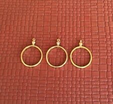 PACK OF 4 28mm COIN HOLDER BEZELS FITS SUSAN B ANTHONY PENDANT NECKLACE
