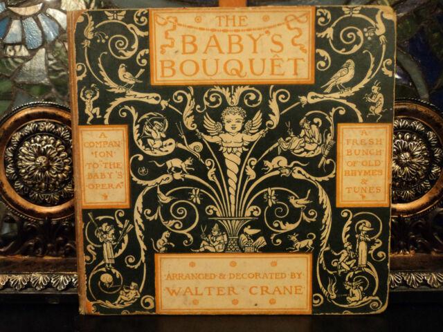 1879 1st ed Baby's Bouquet Walter Crane Children's Nursery Art Rhymes Songs +
