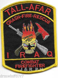 """O.I.F Scania Iraq 4/"""" x 4/"""" size fire patch"""