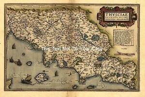 Mapa De Italia Roma.Large A1 Ortelius Centro De Italia Toscana Florencia Roma