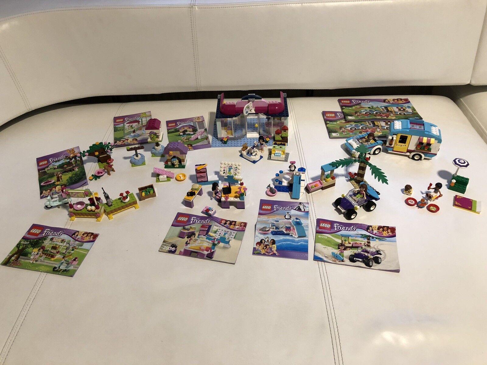 Große Lego Friends Sammlung 8 Sets Tiersalon, Designstudio, Wohnwagen, Strand+++