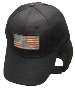 USA-Gadsden-Don-039-t-Tread-On-Me-Tea-Stained-Patch-Black-Embroidered-Cap-Hat