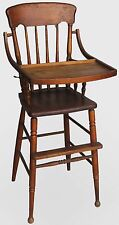 Antique Oak High Chair