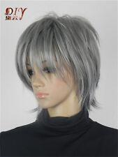 New Style Women Dark Gray Wavy Synthetic Daily Cosplay Hair Full Short Wig